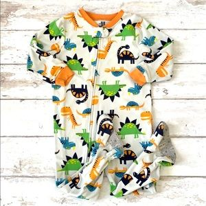 Boys 3T Dinosaur Footie Sleeper Pajamas Carters